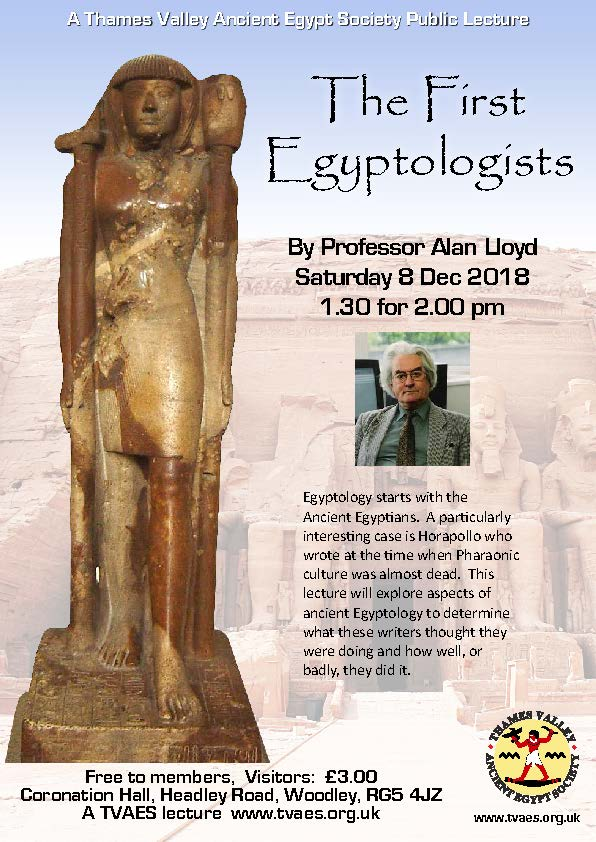 The First Egyptologists