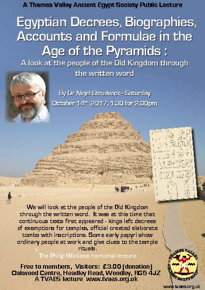 Egyptian Decrees, Biographies, Accounts and Formulae in the Age of the Pyramids : A Look at the people of the Old Kingdom through the written word